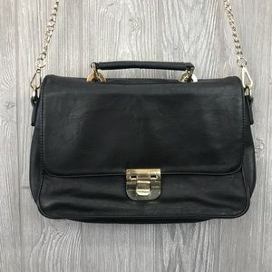 Gianni Bini Leather-Look Black Bag